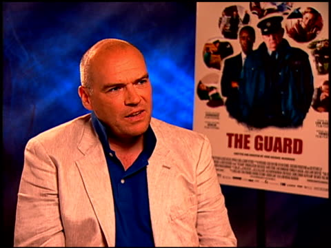 John Michael McDonagh on Don Cheadle and Brendan Gleeson working together at the 'The Guard' Junket at Beverly Hills CA