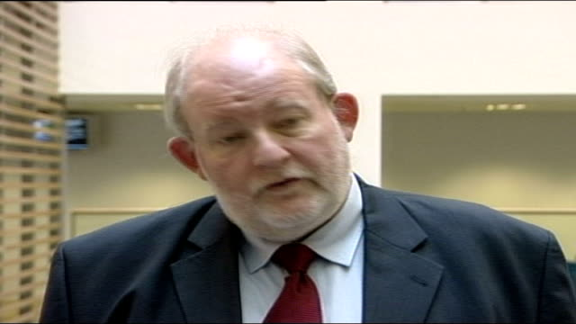 probation service criticised int charles clarke mp along through foyer of building charles clarke mp speaking to press sot i commit myself to bring... - probation stock videos & royalty-free footage
