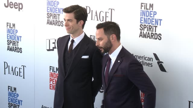 John Mulaney and Nick Kroll at the 2017 Film Independent Spirit Awards Arrivals on February 25 2017 in Santa Monica California