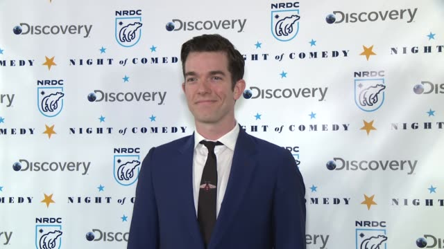 john mulaney at the natural resources defense council presents night of comedy benefit hosted by seth meyers at new york historical society on april... - seth meyers stock videos and b-roll footage