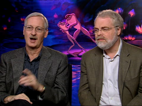 john musker and ron clements on how the disney management had ordered for all the 2d equipment to be thrown out, but a disney staff member kept the... - animator stock videos & royalty-free footage