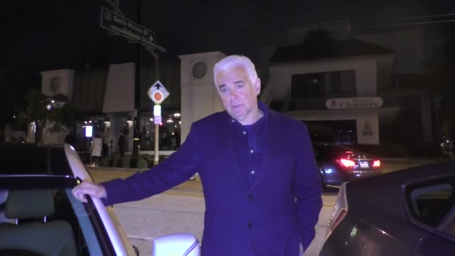 interview john o'hurley talks about how he supports donald trump outside craig's restaurant in west hollywood in celebrity sightings in los angeles - donald trump us president stock videos and b-roll footage