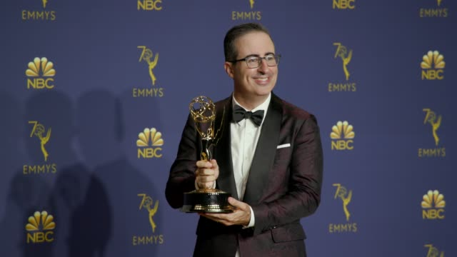 John Oliver at the 70th Emmy Awards Photo Room at Microsoft Theater on September 17 2018 in Los Angeles California