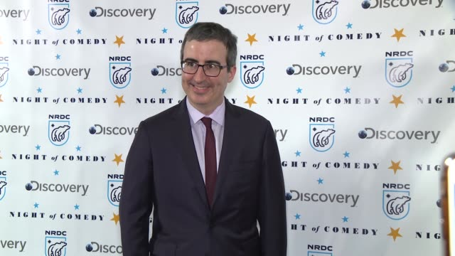 john oliver at the natural resources defense council presents night of comedy benefit hosted by seth meyers at new york historical society on april... - seth meyers stock videos and b-roll footage