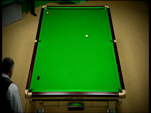 john parrott lays inch perfect snooker behind black, world snooker championship, crucible theatre, sheffield; 2006 - inch stock videos & royalty-free footage
