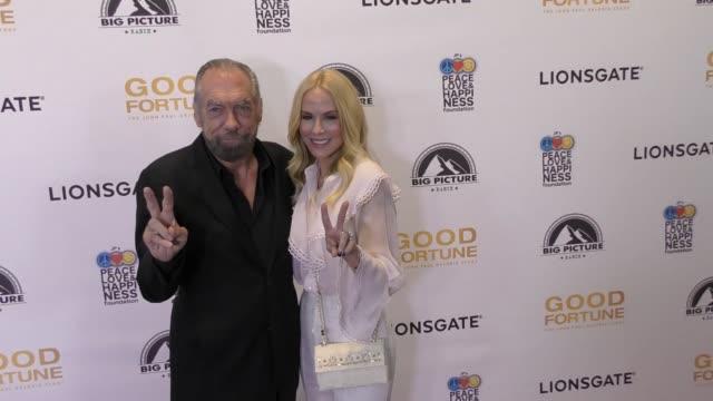 john paul dejoria & eloise dejoria at the 'good fortune' premiere on june 29, 2017 in beverly hills, california. - john fortune stock videos & royalty-free footage