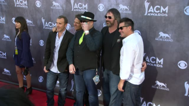 john popper chan kinchla tad kinchla brendan hill and ben wilson at the 49th annual academy of country music awards arrivals at mgm grand garden... - academy of country music awards stock videos & royalty-free footage