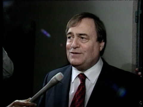 john prescott mp voices concerns about us stance towards kyoto protocol at united nations convention on climate change kyoto japan 08 dec 97 - neckwear stock videos and b-roll footage