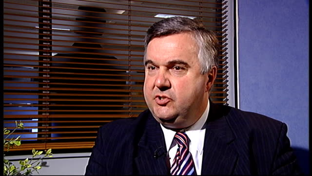 john prescott's department receives increase in funding england london int oliver heald mp interview sot - ジョン プレスコット点の映像素材/bロール