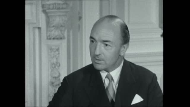 john profumo interview; england: london: whitehall: war office: int john profumo mp interview sof: - although people coming in from civil life, new... - recruit stock videos & royalty-free footage