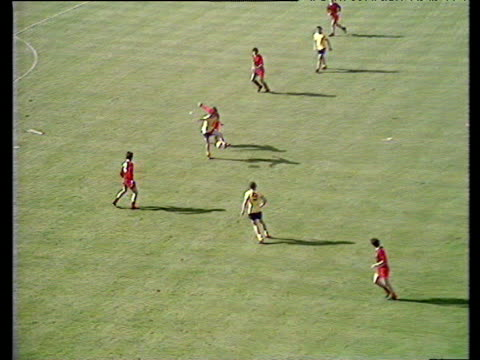 John Radford plays neat one two with Charlie George who scores unstoppable twenty yard game winning strike past goalkeeper Ray Clemence Arsenal vs...