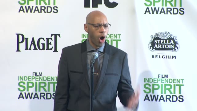 INTERVIEW John Ridley on winning an award and on adapting '12 Years a Slave' at the 2014 Film Independent Spirit Awards Press Room on March 01 2014...
