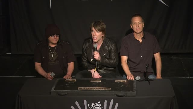 INTERVIEW John Rzeznik Mike Malinin and Robby Takac on their longevity of their music career at Goo Goo Dolls Inducted Into Guitar Center's Historic...