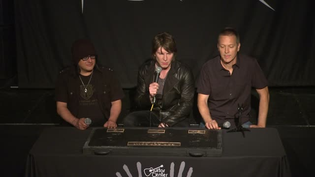 INTERVIEW John Rzeznik Mike Malinin and Robby Takac on their song Iris and its longevity at Goo Goo Dolls Inducted Into Guitar Center's Historic...