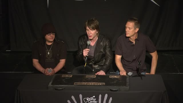 interview john rzeznik mike malinin and robby takac on where the title for their new album magnetic came from and their future plans at goo goo dolls... - album title stock videos and b-roll footage