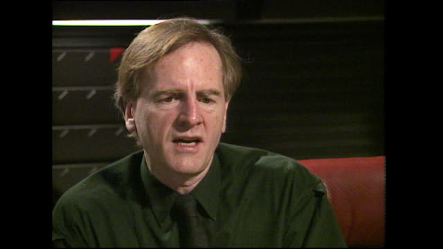 john sculley speaking in 1991 on rejecting steve jobs' offer to leave pepsico to take up the ceo role at apple and jobs' response do you want to sell... - apple computer stock-videos und b-roll-filmmaterial