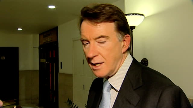 stockvideo's en b-roll-footage met john sergeant pulls out of strictly come dancing int lord mandelson peter mandelson interview sot he's now the people's john travolta the bbc should... - peter mandelson