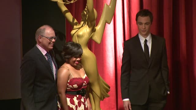 john shaffner, chandra wilson, and jim parsons at the 61st primetime emmy_ awards nominations announcement at north hollywood ca. - emmy awards stock-videos und b-roll-filmmaterial