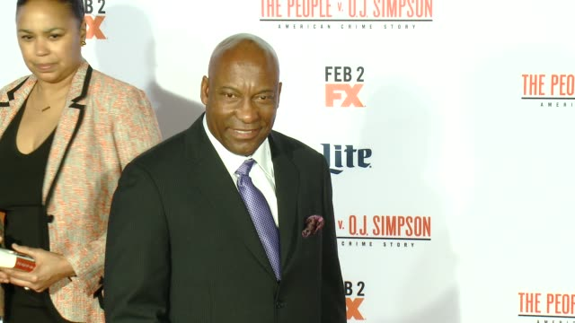 """john singleton at fx's """"the people v. o.j. simpson: american crime story"""" premiere at westwood village theatre on january 27, 2016 in westwood,... - westwood village stock videos & royalty-free footage"""
