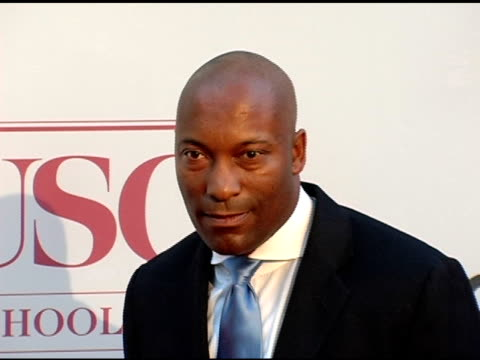 john singleton at the usc school of film and television's 75th anniversary gala at hobart auditorium in los angeles california on september 26 2004 - 75th anniversary stock videos & royalty-free footage