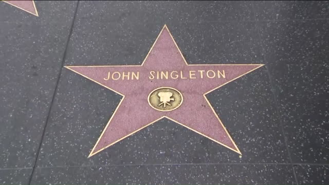 john singleton star on the hollywood walk of fame in hollywood california usa on tuesday april 30 2019 - walk of fame stock videos & royalty-free footage