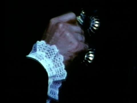 stockvideo's en b-roll-footage met 1963 reenactment cu john slidell knocking on door / 1840s republic of texas / audio - manifest destiny