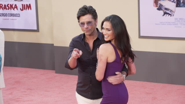 """john stamos and caitlin mchugh at the """"once upon a time in hollywood"""" premiere at tcl chinese theatre on july 22, 2019 in hollywood, california. - tcl chinese theatre stock videos & royalty-free footage"""