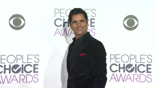 john stamos at the people's choice awards 2016 at nokia plaza la live on january 6 2016 in los angeles california - people's choice awards stock videos & royalty-free footage
