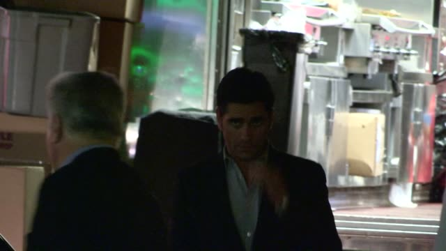 john stamos departs the jimmy fallon 2013 emmy after party in hollywood at celebrity sightings in los angeles john stamos departs the jimmy fallon... - 2013点の映像素材/bロール