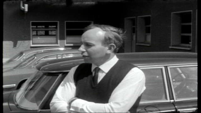 john surtees comeback italy ferrari team headquarters surtees talking to man lorry driven from factory surtees along england northamptonshire... - northamptonshire stock videos and b-roll footage