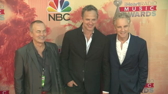 john sykes, tom poleman, and ian stewart at the 2015 iheartradio music awards - red carpet arrivals at the shrine auditorium on march 29, 2015 in los... - shrine auditorium stock videos & royalty-free footage