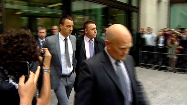 john terry banned and fined by fa over anton ferdinand racial abuse 1372012 photography *** john terry leaving court following his acquittal on... - acquittal stock videos and b-roll footage
