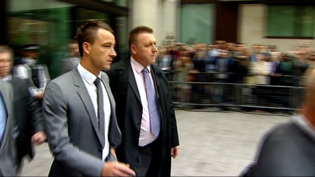 john terry cleared of racism charge england london westminster magistrates court photography *** john terry leaving court following his acquittal of... - acquittal stock videos and b-roll footage