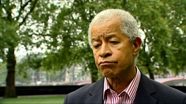 lord ouseley interview england london ext lord ouseley interview sot - herman ouseley stock videos & royalty-free footage