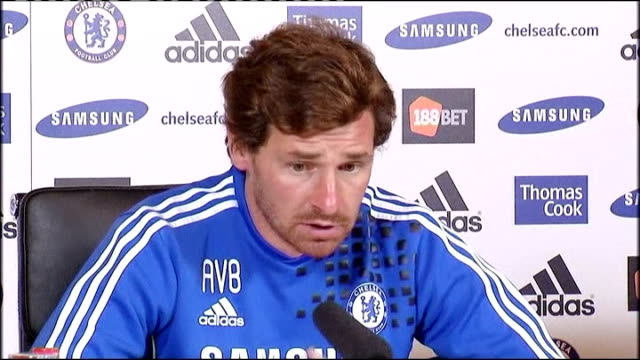 cobham int andre villasboas press conference sot he spoke to anton after the game anton was present in our dressing room for us it was end of story... - コブハム点の映像素材/bロール