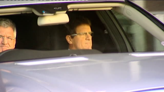 john terry stripped of england captaincy february 2010 fabio capello in car - リチャード・パロット点の映像素材/bロール