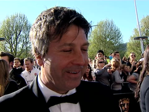 john torde on masterchef being nominated, on enjoying the celebrity masterchef, on his favorite celebrity on the show at the tv bafta awards at... - masterchef stock videos & royalty-free footage