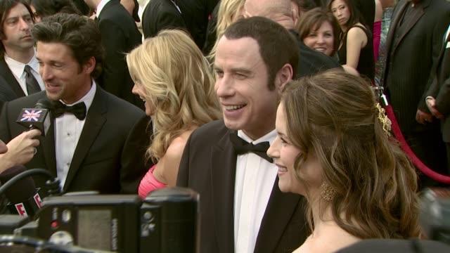 John Travolta and Kelly Preston at the 2008 Academy Awards at the Kodak Theatre in Hollywood California on February 24 2008