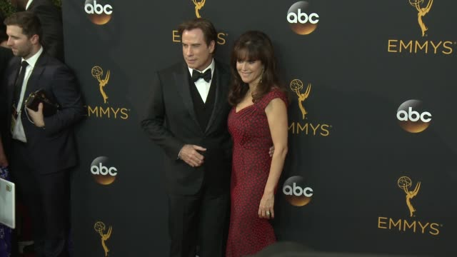 John Travolta and Kelly Preston at the 68th Annual Primetime Emmy Awards Arrivals at Microsoft Theater on September 18 2016 in Los Angeles California
