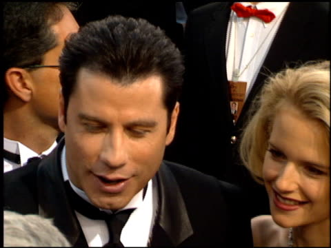 john travolta at the 1995 academy awards arrivals at the shrine auditorium in los angeles california on march 27 1995 - 67th annual academy awards stock videos & royalty-free footage