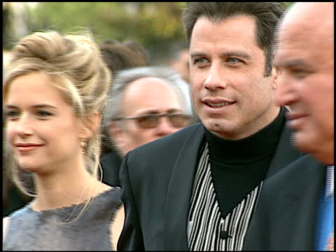 vídeos de stock e filmes b-roll de john travolta at the blockbuster awards at hollywood pantages theater in hollywood, california on march 11, 1997. - pantages theater