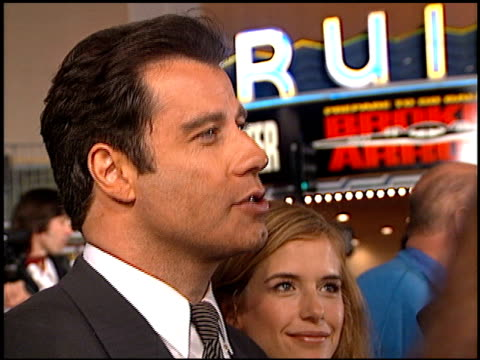 john travolta at the 'broken arrow' premiere on february 5, 1996. - 1996 stock videos & royalty-free footage