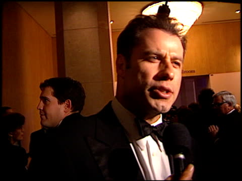 john travolta at the carousel of hope gala at the beverly hilton in beverly hills california on october 25 1996 - carousel of hope stock videos and b-roll footage