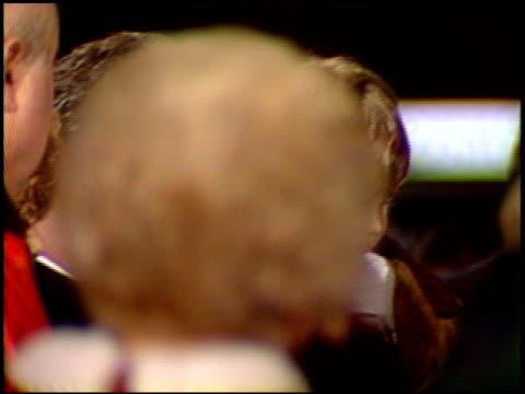 john travolta at the 'look who's talking too' premiere at century plaza in century city, california on december 13, 1990. - センチュリープラザ点の映像素材/bロール
