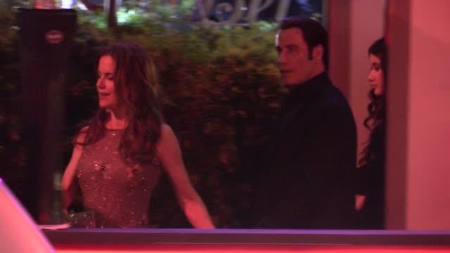John Travolta Kelly Preston arrive at the 2013 Vanity Fair Oscar Party in West Hollywood 02/24/13