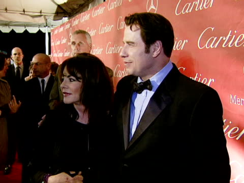 John Travolta Stockard Channing at the 2008 Palm Springs International Film Festival Hosts StarStudded Awards Gala Presented By Cartier Red Carpet...