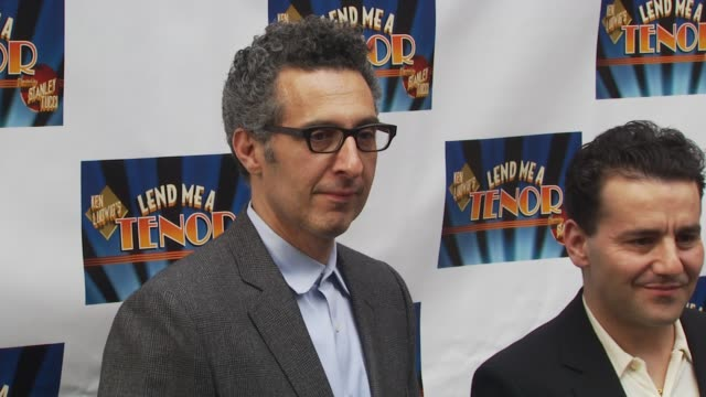 john turturro and max casella at the opening of 'lend me a tenor' arrivals at new york ny - lend me a tenor stock-videos und b-roll-filmmaterial
