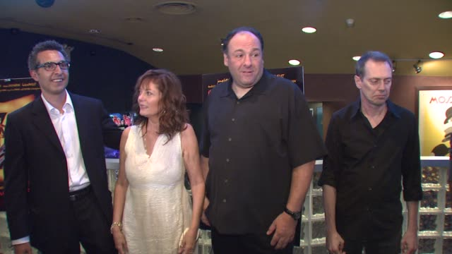 john turturro susan sarandon james gandolfini and steve buscemi at the 'romance cigarettes' premiere at clearview chelsea west cinema in new york new... - steve buscemi stock videos and b-roll footage