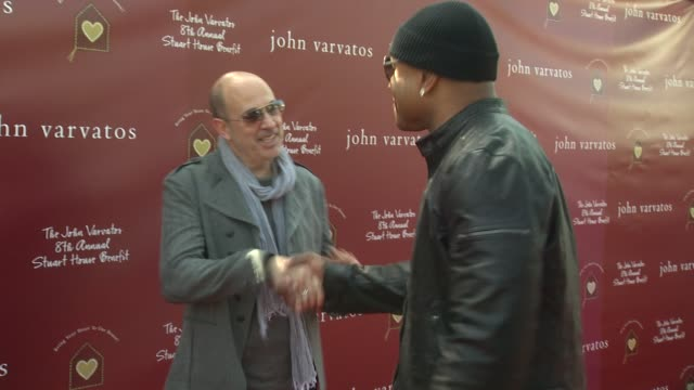 john varvatos ll cool j at the john varvatos 8th annual stuart house benefit at los angeles ca - ll cool j stock videos and b-roll footage