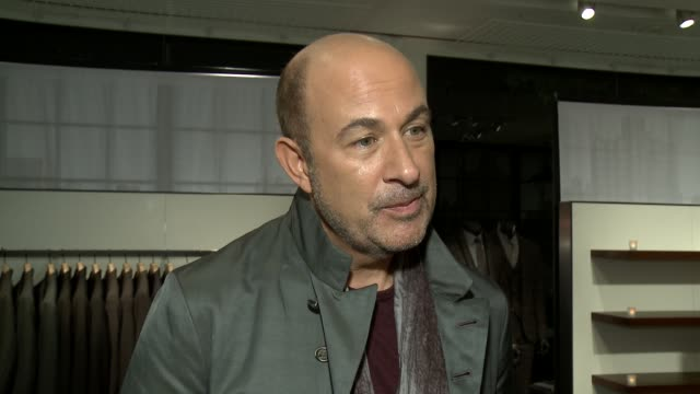 john varvatos on the evening, why he chose paul weller as the face of his fall ad campaign, his favorite men's trends, why this seemed like a fun way... - nicole richie stock videos & royalty-free footage